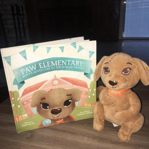 Paw Elementary Book 1 with Roxy plush