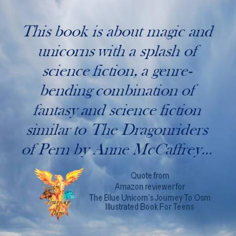 Book Review Quote for The Blue Unicorn's Journey To Osm